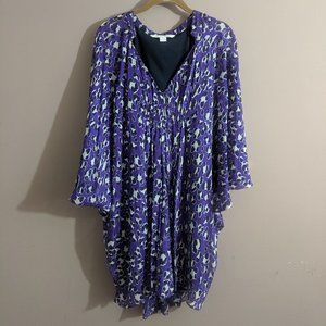 Diane Von Furstenberg Sz 2 Fleurette Purple Dress